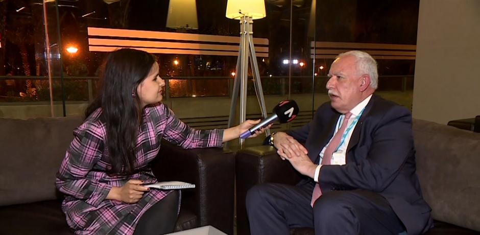 وزير الخارجية الفلسطيني رياض المالكي في حوار حصري مع ميدي آن