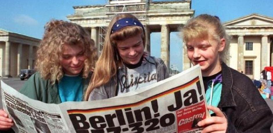 Le 20 juin 1991, Berlin capitale de l'Allemagne réunifiée