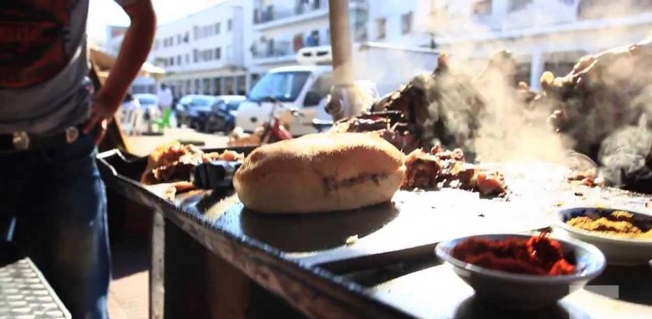 La street food au Maroc.