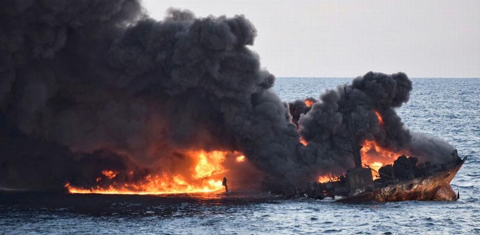 Des nappes d'hydrocarbures en mer de Chine